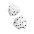 White dice on a background Stock Photo