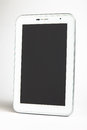 White digital tablet on a white background Stock Photo