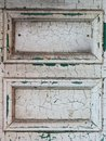 White door with cracked paint Royalty Free Stock Photo