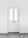 White door front internal in new house Royalty Free Stock Image