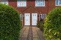 White door house Royalty Free Stock Photo