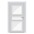White door isolated illustration on background Royalty Free Stock Photos