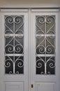 White door metal pattern Royalty Free Stock Photo