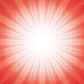 White dots halftone with red abstract star burst abstract background concept Royalty Free Stock Photo