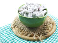 White dragon fruit high nutrient cut in ceramic bowl selective focus piece of Stock Images