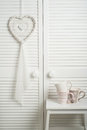 White Dream Catcher With Mugs