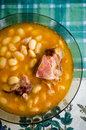 White dried bean soup Royalty Free Stock Photo