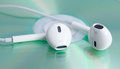 White earphone on music dvd Royalty Free Stock Image