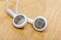 White earphone Royalty Free Stock Photo