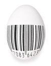 White egg chicken black bar code symbol art design white background Royalty Free Stock Photography