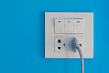 White Electric Outlet And Swit...