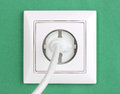 White electric socket Royalty Free Stock Images
