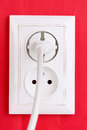 White electric socket Stock Images