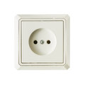 White electrical outlet isolated on a background Stock Image