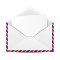 White envelope with paper sheet Royalty Free Stock Image
