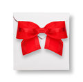 White envelope with red bow Royalty Free Stock Photography