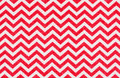 White fabric with a red chevron pattern Royalty Free Stock Photos