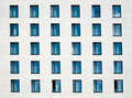 White facade with windows Stock Photography