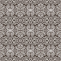 White fantasy contrast seamless pattern background on brown Stock Photo