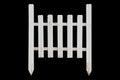 White Fence on Black Royalty Free Stock Photo