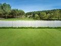 White fences Royalty Free Stock Photo