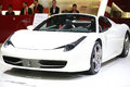 White ferrari new car at th shenzhen hongkong macao international auto show, shenzhen conference and exhibition center china Royalty Free Stock Photo