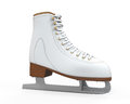 White figure skates isolated on background d render Stock Photo