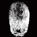 White Fingerprint Shape On Bla...
