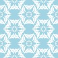 White floral seamless pattern on blue background Royalty Free Stock Photo