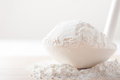White flour in a large laddle shallow depth of field Stock Photography