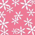 White flower pattern pink background Stock Photo