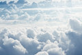 White fluffy clouds aerial view on Stock Images