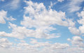 White fluffy clouds against the blue sky Royalty Free Stock Image