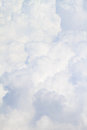 White fluffy clouds background full size close up Stock Photo