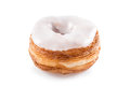 White fondant croissant and donut mixture isolated on Royalty Free Stock Photo