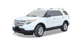 White Ford SUV Royalty Free Stock Photo
