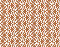 White forged lacing seamless pattern on brown editable Stock Photo