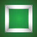 White frame on a green background colorful illustration with for your design Stock Image
