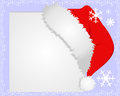 White frame with santa s hat where you can place your information Royalty Free Stock Images