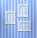 White frames Stock Photos
