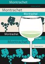 White French wine - Montrachet Stock Image
