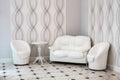 White furniture. Royalty Free Stock Photo