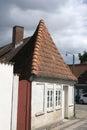 White gable on old house in middelfart denmark Stock Images