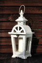 White gardens lantern Royalty Free Stock Photo