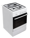 White gas cooker with clipping path modern isolated on Royalty Free Stock Photography
