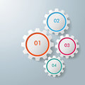White gears colorful infographic on the grey background eps file Royalty Free Stock Photography