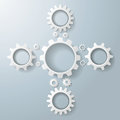 White gears cros on the grey background eps file Royalty Free Stock Photography