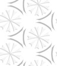 White geometrical flowers and gray elements seamless pattern abstract d background with cut out of paper effect Royalty Free Stock Images