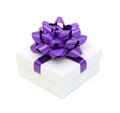 White gift box with Royalty Free Stock Photos