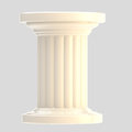 White glossy column pillar isolated on grey Royalty Free Stock Image